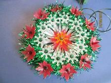VINTAGE 1974 POINSETTIA CIRCLE OF LIGHT 21 JEWEL LIGHTS CHRISTMAS HANGING
