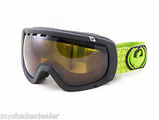 New Dragon Alliance Rogue Snow Ski Matte Black & Lime Goggles Brown Lens
