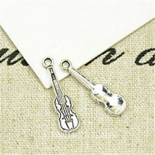 40pc Tibetan Silver violin Charm Beads Pendant accessories Findings PL723