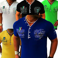Herren T-Shirt Shirt Shirts Top Qualität Polo Party Clubwear WOW M L XL XXL 3XL