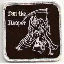 FEAR THE REAPER Embroidered Biker Patch - 1%er Outlaw SAMCRO SOA BLACK METAL
