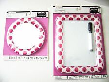 Creatology Magnetic Mirror/Dry Eraser Board w/Marker Polka Dots  -Red & White
