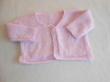 Baby Girls Clothes 3-6  Months - Hand  Knitted Cardigan - Combine Postage&Save