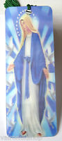 VIRGIN MARY DESIGN 3D HOLOGRAPHIC BOOKMARK WITH SILK TASSEL