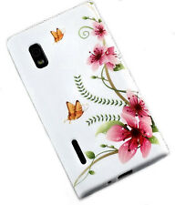 Design no. 5 Silicone TPU Cover Case + Pellicola protettiva display per LG e610 Optimus l5