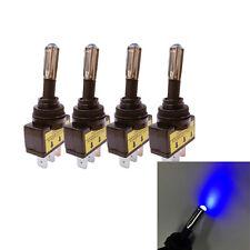 4x 12V 20A Car Boat Auto Blue LED Light Toggle Rocker Switch 3Pin SPST ON/OFF