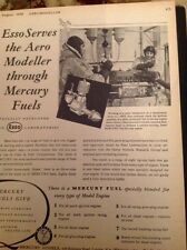 J-1-9 Ephemera 1950 Advert Esso Mercury Fuels Scientists At Work