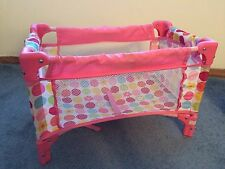 Baby Doll Pack & Play Pink Fits American Girl Bitty Baby Play Crib Yard