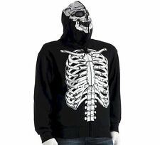 NEW NWT Mens Skeleton Hoodie Sweatshirt 2XL