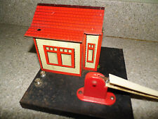 Vintage Marx RailRoad Crossing Building & Gate - Watchman On Duty R.R. Property
