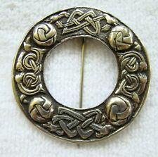 Vtg Silver Alexander Ritchie/ Iain Maccormick Scottish Zoomorphic Celtic Brooch