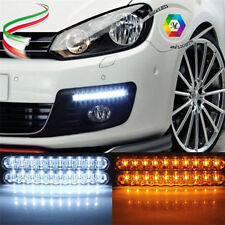 KIT 30 LED FARI AUTO 5050 12W DAYTIME DRL RUNNING DAYLIGHT LUCI AUTO