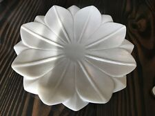 Brand New White Marble Flower Bowl Tray Hand Carved India *Free Shipping*