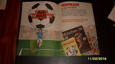 Advertising Italian Pubblicità Werbung: TOPOLINO ALBUM MUNCHEN '74 (2) *1974*