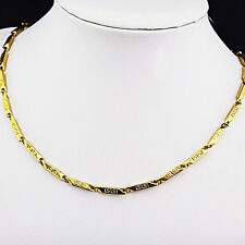 Hot Sale 316L Stainless Steel Gold Fashion Chain Necklace Women Mens Jewelry New