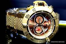 Men Invicta Subaqua Noma III Gold Plated Copper Dial Swiss Chronograph Watch New