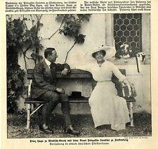 Prinz Hugo zu Windisch-Graetz & Prinzessin Leontine zu Fürstenberg 1912