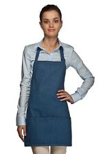 Daystar Aprons 1 Style 200DN Denim three pocket bib apron ~ Made in USA