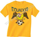 Ecuador Football Mascot World Cup 2014 Brazil Boys/Girls T-Shirt Childrens T239