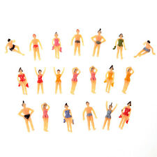 20pcs OO Scale 1:75 Painted Model Beach People Figures (1:75) Toy
