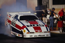 573064 The BDS Top Fuel Funny Car Lights Up Its Back Tires A4 Photo Print