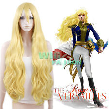The Rose of Versailles Oscar Francois de Jarjayas Jarjayes Blonde Cosplay Wig