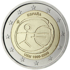 Spain / Spanien - 2 Euro 10th anniversary of Economic and Monetary Union