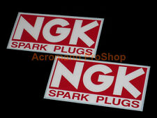 "2x 6"" 15.2cm NGK Spark Plugs Decal Sticker iridium vintage WRC Rally SCCA NHRA"