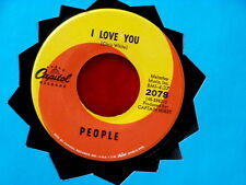 PEOPLE~ I LOVE YOU~ VG++~SOMEBODY TELL ME MY NAME~ CAPITOL ~ POP 45