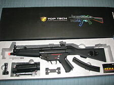 G&G Top Tech Pneumatic Blowback MP5 A4 Airsoft AEG with Extras