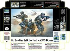 NO SOLDIER LEFT BEHIND - MWD DOWN 1/35 MASTER BOX 35181 NEW 2016 DE