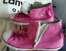 BNIB Junior CONVERSE Canvas ZIP HI PINK 24CM US 6 UK 5.5 OR 38.5 EURO SHOES
