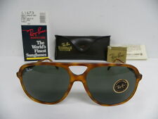 New Vintage B&L Ray Ban Traditionals Style B Blond Tortoise L1673 Aviator NOS