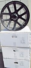 "20"" DODGE CHALLENGER CHARGER CHRYSLER 300 VIPER FOUR MATTE BLACK WHEELS RIMS"