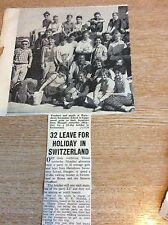 k1-1 ephemera 1961 picture article hartsdown secondary school switzerland trip