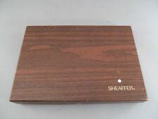 Vintage Sheaffer White Dot Fountain Pen & Ball Point Marble Base Desk Set