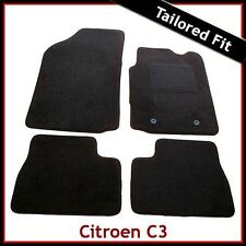 Citroen C3 Mk1 2002-2010 Fully Tailored Fitted Carpet Car Floor Mats BLACK
