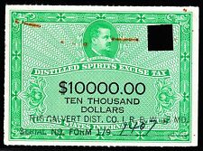 US RX46 1950 $10000 Distilled Spirits Stamp VF SCV $90