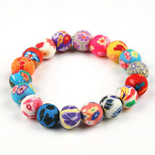 Wholesale Handmade Mix Lots Polymer Clay Colorful Girl's Beaded Bracelets