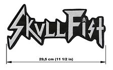 SKULL FIST logo BACK PATCH embroidered NEW speed heavy metal