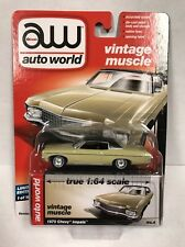 Auto World 1970 Chevrolet Impala Yellow R5 B  VERY RARE! 1:64 LIMITED EDITION
