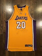 100% Authentic NIKE Los Angeles Lakers Gary Payton #20 Jersey Size 48 XL