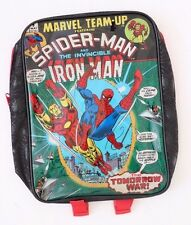 Marvel Comics Spider-Man Iron Man BACKPACK BOOKBAG KID'S BOY'S SCHOOL BAG NWT