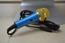 Blue 3.5 mm Desktop Microphone MIC for PC Computer Laptop karaoke