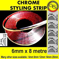 6mm CHROME CAR STRIP MOULDING TRIM ADHESIVE VW PASSAT B5 B6 TRANSPORTER