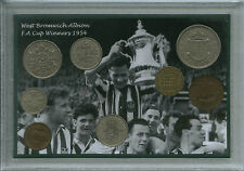 West Bromwich Albion W.B.A WBA Brom Vintage F.A Cup Winners Coin Gift Set 1954