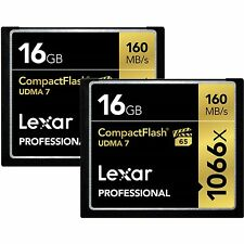 Lexar 16GB Pro 1066x UDMA 7 Compact Flash CF Pro Memory Card 2 Pack -Total 32GB