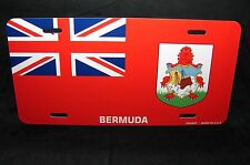 BERMUDA FLAG METAL NOVELTY LICENSE PLATE TAG FOR CARS