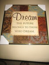 New Wall Art Picture Of Dreams Theme Neutral colors rhinestone accents GRADUATE