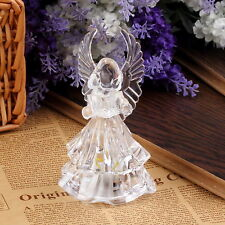 7 Colors Changing Crystal LED Christmas Angel Decoration Night Light Lamp Gift
